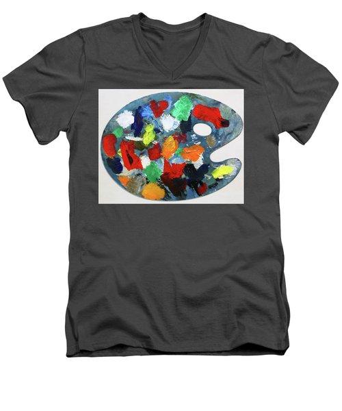 The Artists Palette Men's V-Neck T-Shirt