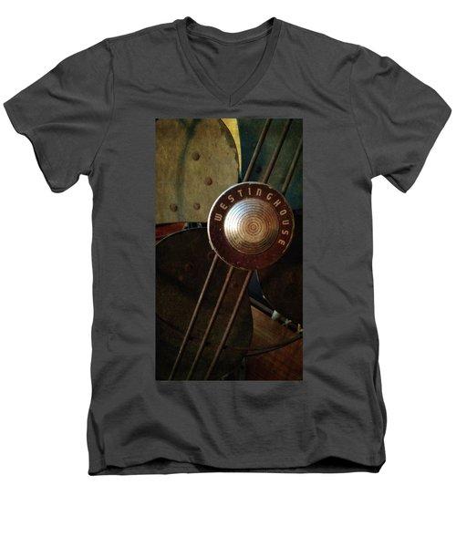 Classic Desk Fan  Men's V-Neck T-Shirt by Michelle Calkins