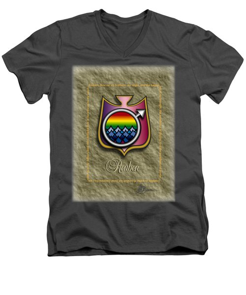 Reuben Shield Shirt Men's V-Neck T-Shirt