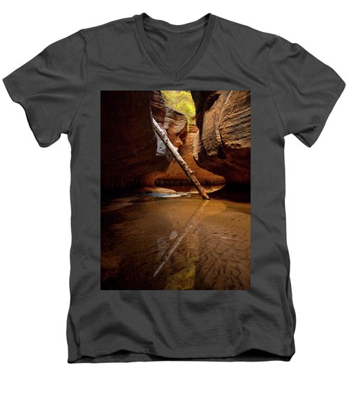 Reunion Men's V-Neck T-Shirt by Dustin LeFevre