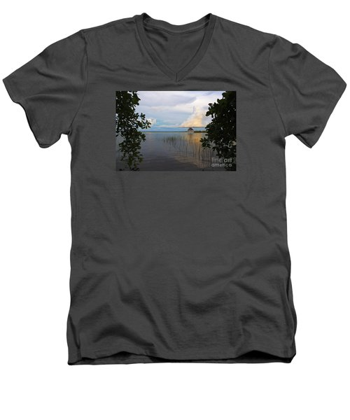 Revealing The Lagoon Men's V-Neck T-Shirt by Yuri Santin