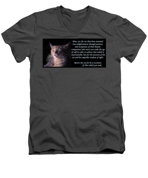 Revere Cat Men's V-Neck T-Shirt