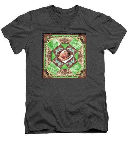 Reynard Quilt Men's V-Neck T-Shirt