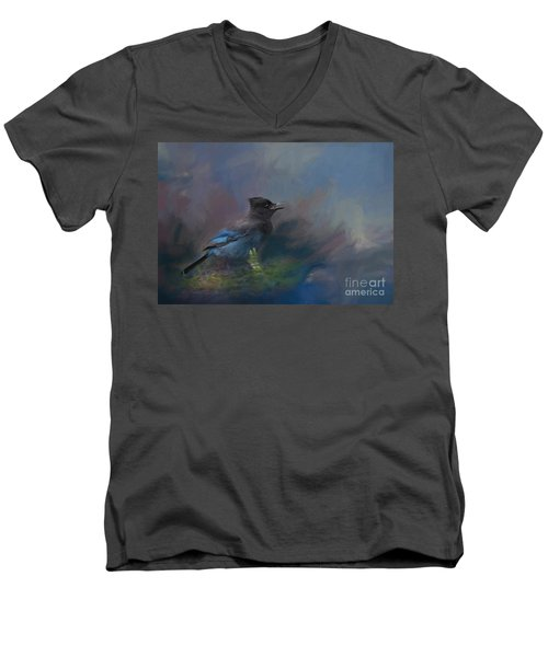 Rhapsody In Blue Men's V-Neck T-Shirt