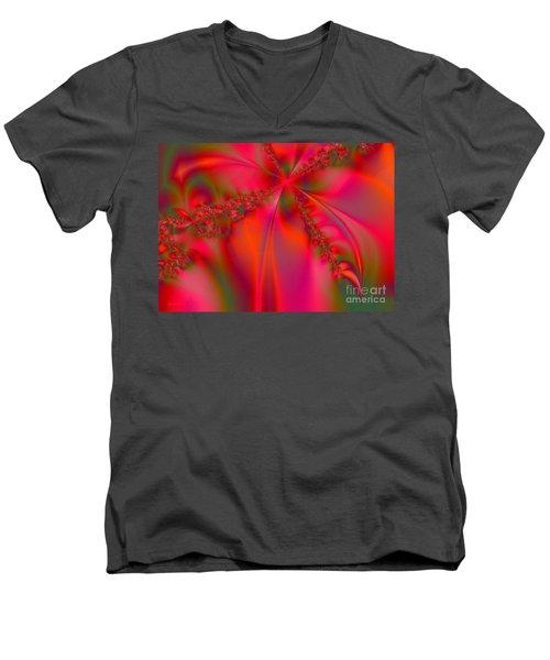 Rhapsody In Red Men's V-Neck T-Shirt