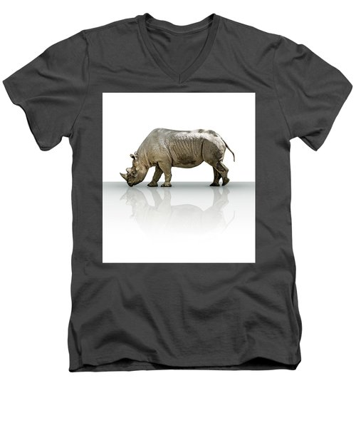 Rhinoceros Men's V-Neck T-Shirt