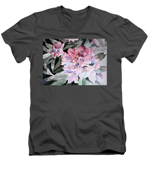 Rhododendron Rose Men's V-Neck T-Shirt