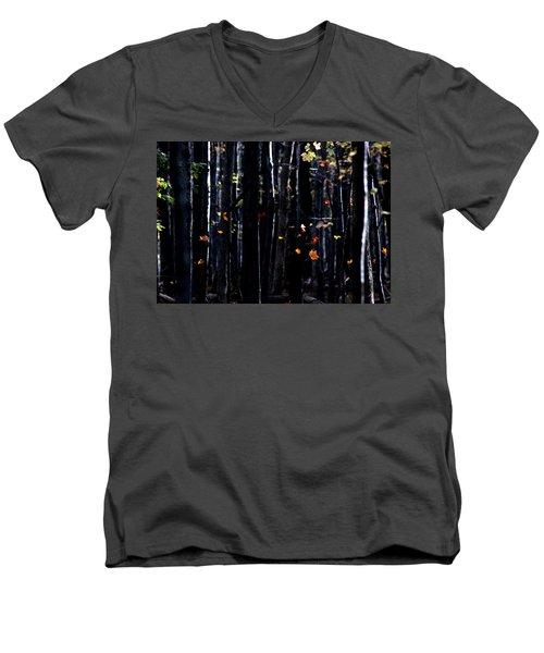 Rhythm Of Leaves Falling Men's V-Neck T-Shirt