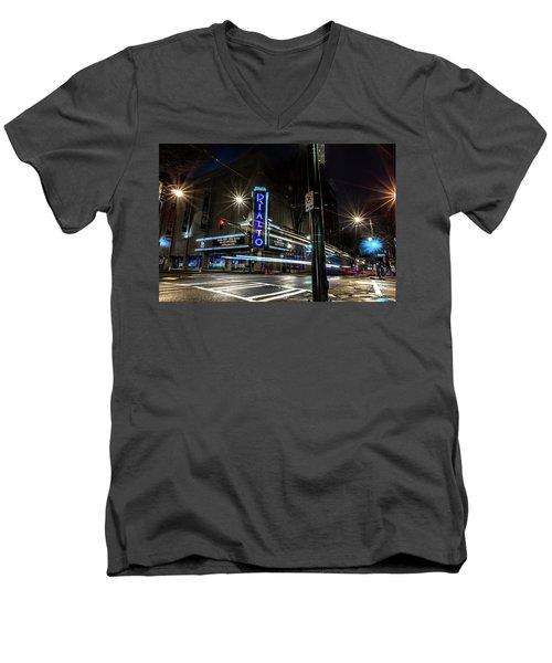 Rialto Theater Men's V-Neck T-Shirt