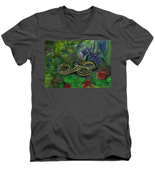 Ribbon Snake Men's V-Neck T-Shirt