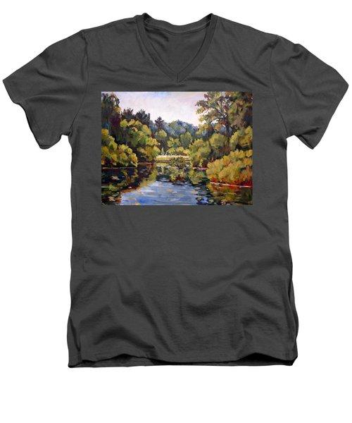 Richard's Pond Men's V-Neck T-Shirt by Alexandra Maria Ethlyn Cheshire