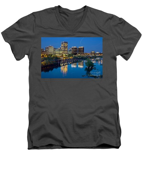 Richmond Skyline Helo Trail Men's V-Neck T-Shirt