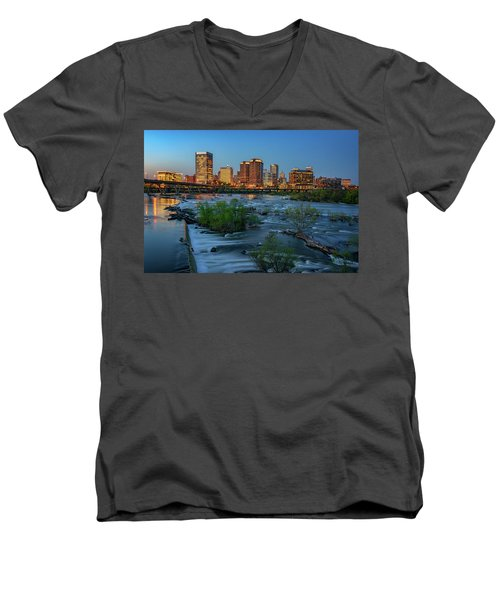 Men's V-Neck T-Shirt featuring the photograph Richmond Twilight by Rick Berk