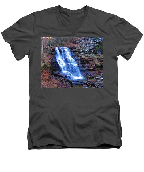 Ricketts Glen Waterfall 3941  Men's V-Neck T-Shirt