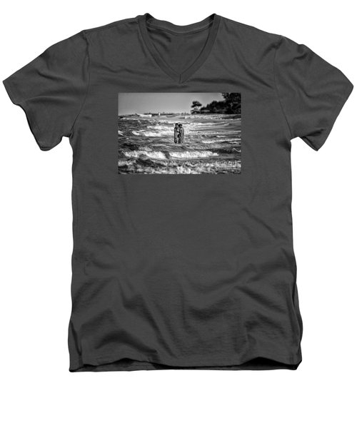 Ride The Waves Men's V-Neck T-Shirt