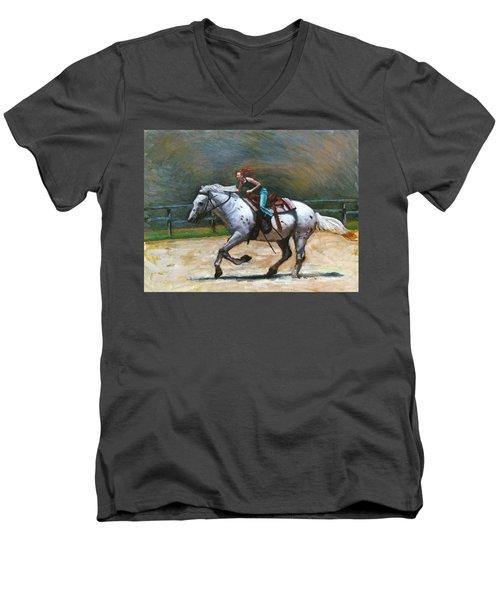 Riding Dollar Men's V-Neck T-Shirt