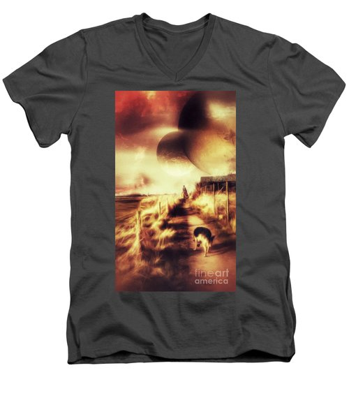 Riding Offworld Men's V-Neck T-Shirt