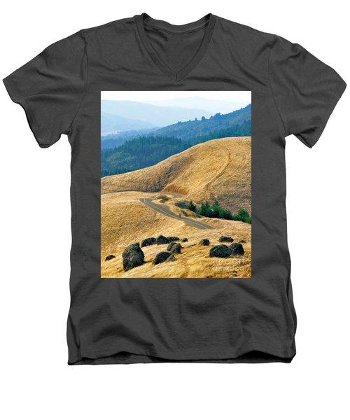 Riding The Mountain Men's V-Neck T-Shirt