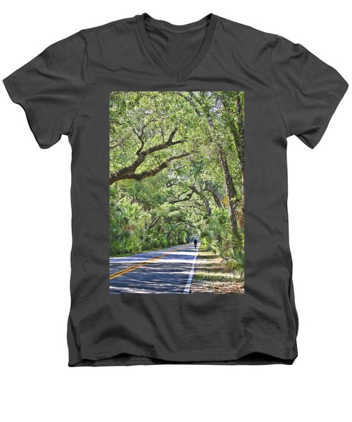 Riding The Ormond Loop Men's V-Neck T-Shirt