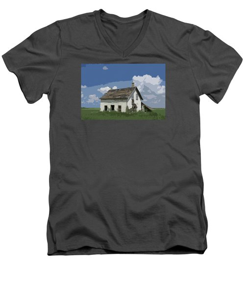 Riel Period Homestead Men's V-Neck T-Shirt by Ellery Russell