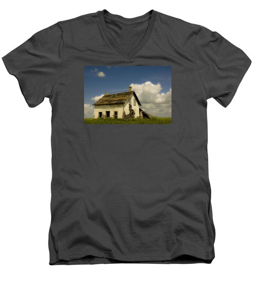 Riel Rebellion Period Farm House Men's V-Neck T-Shirt by Ellery Russell