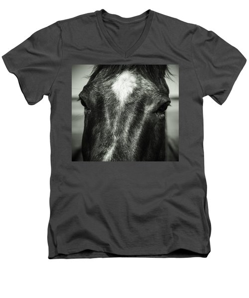 Men's V-Neck T-Shirt featuring the photograph Right Between The Eyes by Jason Moynihan