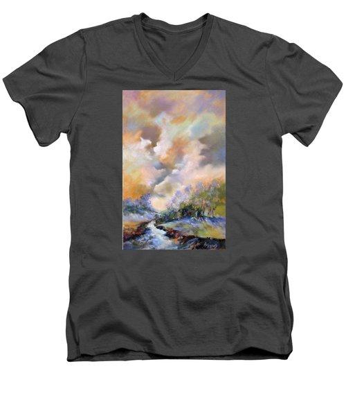 Rim Light Men's V-Neck T-Shirt by Rae Andrews