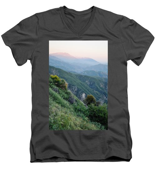 Men's V-Neck T-Shirt featuring the photograph Rim O' The World National Scenic Byway II by Kyle Hanson