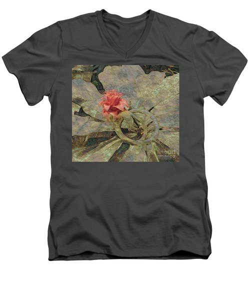 Men's V-Neck T-Shirt featuring the photograph Ring Around The Posy by Kathie Chicoine