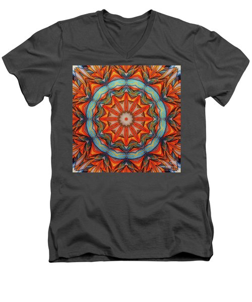 Ring Of Fire Men's V-Neck T-Shirt by Mo T