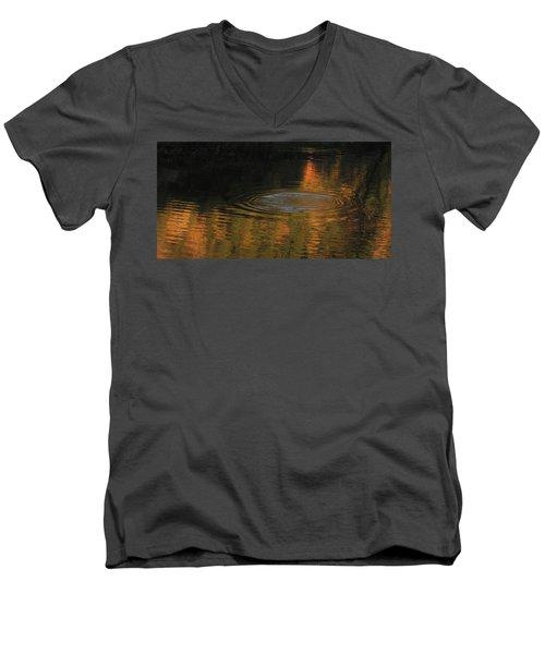Rings And Reflections Men's V-Neck T-Shirt by Suzy Piatt
