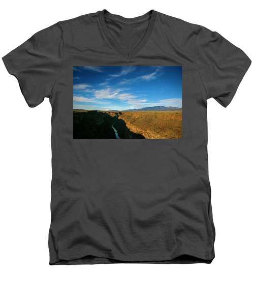 Men's V-Neck T-Shirt featuring the photograph Rio Grande Gorge Nm by Marilyn Hunt