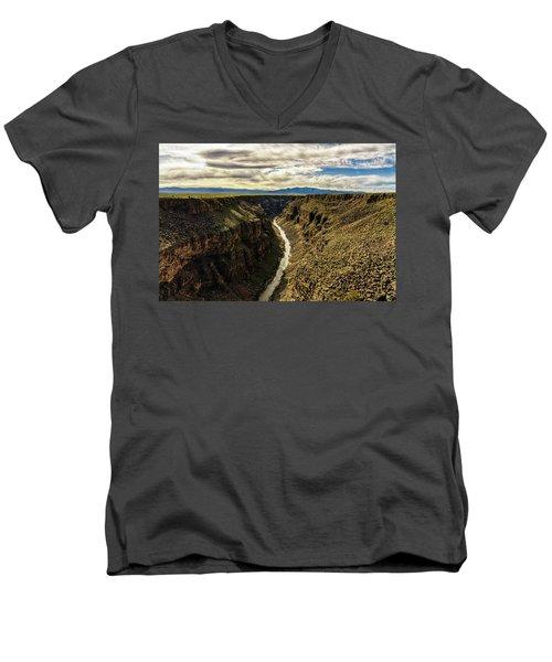 Rio Grande Gorge  Men's V-Neck T-Shirt by Robert FERD Frank