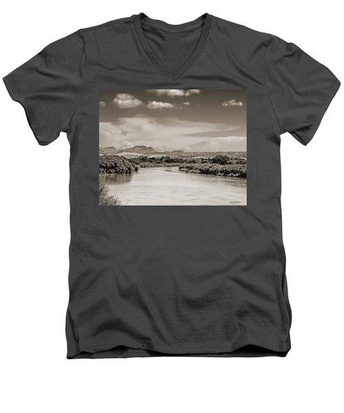 Rio Grande In Sepia Men's V-Neck T-Shirt