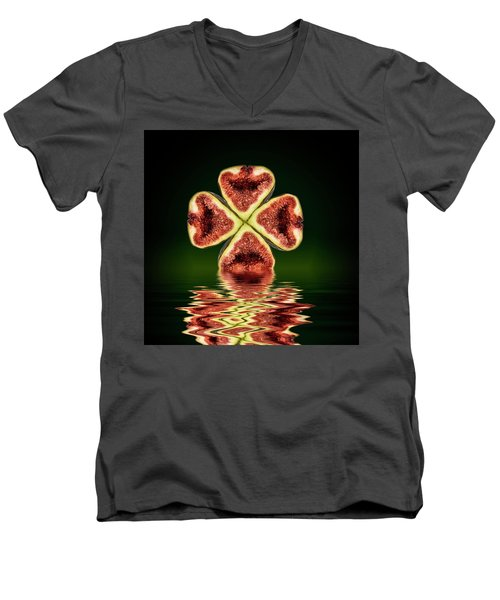 Men's V-Neck T-Shirt featuring the photograph Ripe Juicy Figs Fruit by David French