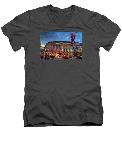 Ripley's At Piccadilly Circus Men's V-Neck T-Shirt