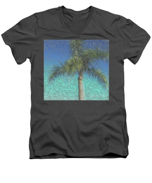 Rippled Palm Men's V-Neck T-Shirt