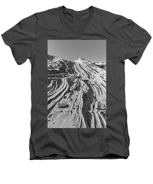 Rippled Sandstone At Waterhole Canyon Men's V-Neck T-Shirt