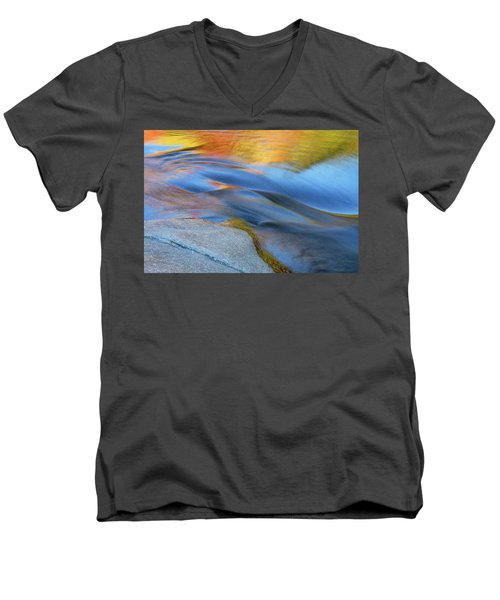 Ripples Flow Swift River Nh Men's V-Neck T-Shirt