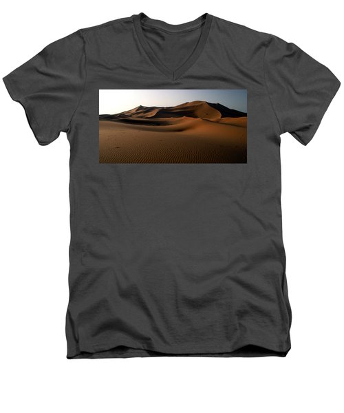 Ripples In The Sand Men's V-Neck T-Shirt by Ralph A  Ledergerber-Photography