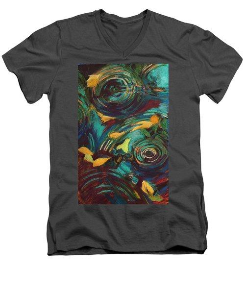 Ripples In Time Men's V-Neck T-Shirt