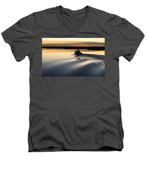 Men's V-Neck T-Shirt featuring the photograph Ripples by Kristopher Schoenleber
