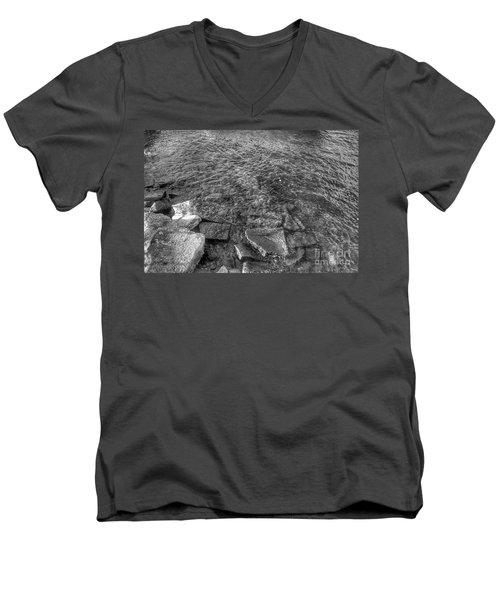 Ripples On Lake Champlain Men's V-Neck T-Shirt