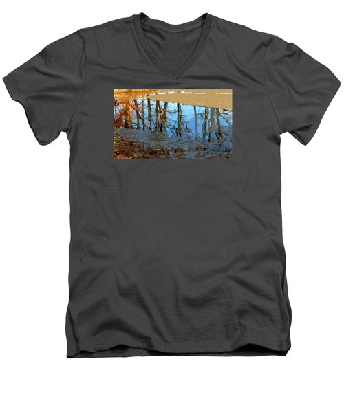 Men's V-Neck T-Shirt featuring the photograph Ripples by Spyder Webb