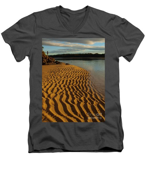 Ripples To The Edge Men's V-Neck T-Shirt by Trena Mara