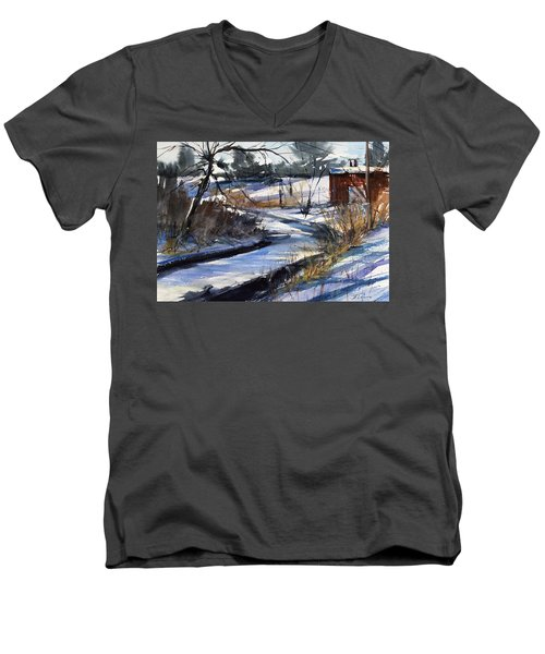 Rippleton Road River Men's V-Neck T-Shirt