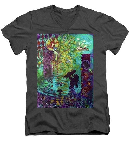 Rise Again Men's V-Neck T-Shirt