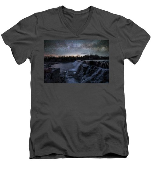Men's V-Neck T-Shirt featuring the photograph Rise And Fall by Aaron J Groen