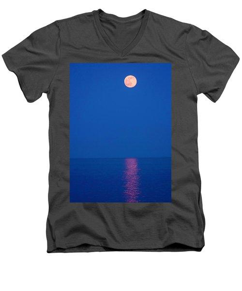 Rise Men's V-Neck T-Shirt by Michael Nowotny