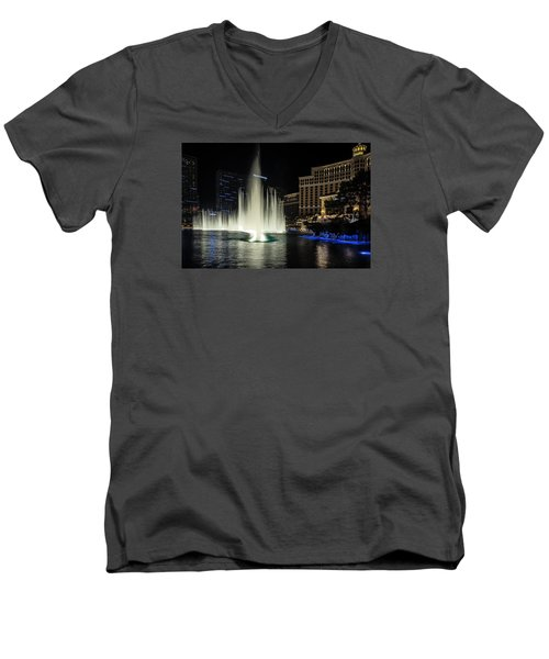 Men's V-Neck T-Shirt featuring the photograph Rise by Michael Rogers